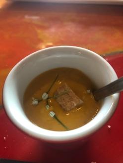 Gazpacho con formaggella di malga