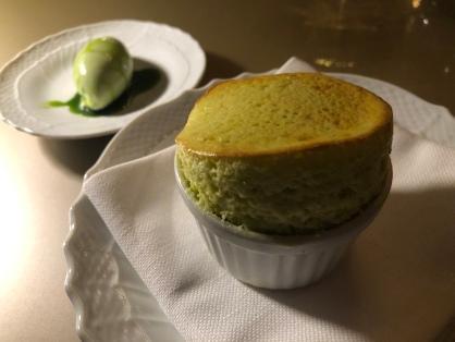 Soufflè e gelato al levistico