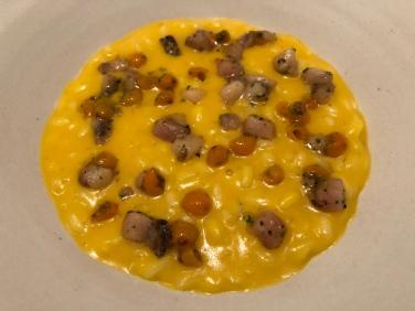 Risotto alla zucca, midollo & olivello